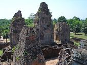 picture of mahabharata  - Four old khmer pyramid temple  - JPG