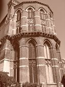 Italian Church Tower With Sepia Effect, Venice, Italia