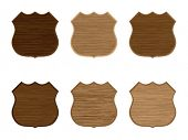 Wooden badges