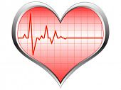 heart pulse vector illustration