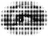 Doted eye vector illustration