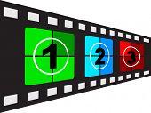 (raster image of vector) filmstrip vector illustration