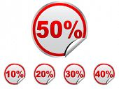 discount stickers vector illustration