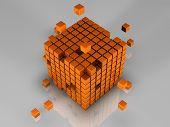 512 Orange Cubes