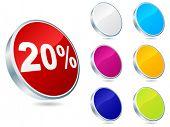 twenty percent discount icon vector illustration