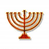 pic of judas tree  - an illlustration of a candlestick of hannukah - JPG