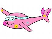 (raster image of vector) plane in love