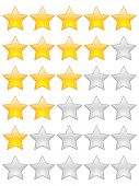 (raster image) rating stars