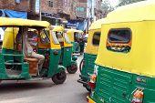 Tuk tuks - street in India