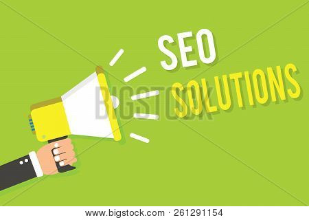Conceptual Hand Writing Showing Seo