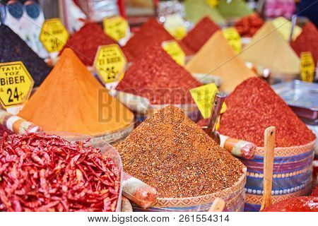 Turkey Istanbul Spice Bazaar Turkish
