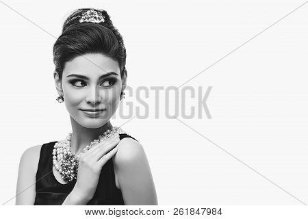 Beautiful Young Woman In Retro