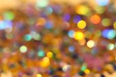 Blurred Abstract Creative Background. Gold And Yellow Background. Lens Flare. Colorful Bokeh Light.  poster