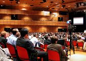 image of communication people  - people attending a conference - JPG