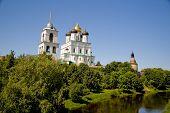 Travel in Russia. Pskov Kremlin (Krom) poster