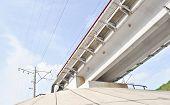 concrete railroad overpass