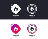 Logotype Concept. Fire Flame Sign Icon. Fire Symbol. Stop Fire. Escape From Fire. Logo Design. Color poster