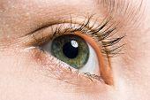 beauty woman macro eye