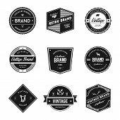 Vintage Retro Brand Badges. Vintage Logo Vector poster