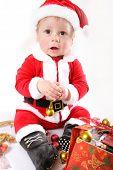 little Santa Claus baby