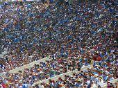 UCLA Bruins fans at the Rose Bowl, Pasadena, California, September 17, 2005