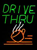 Drive Thru Coffee Shop neon sign