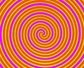 Vertiginosa espiral linhas em amarelo e laranja