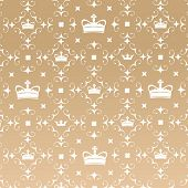 Crown Pattern Wallpaper