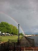 Double Rainbow at Morris Cove Seawall