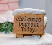 Christmas Pageant Sign