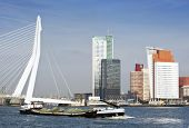 River transport on the Meuse in Rotterdam, the Netherlands