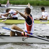 AMSTERDAM - JULY 23:Jovanovich and Serbia's Men's Coxed four wins gold at the world championships ro