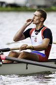 AMSTERDAM - JULY 23: Jovanovic (Serbia) kisses the cross around his neck after winning the finals at