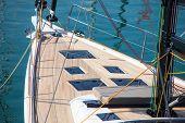 Sailing Yacht Sailing In The Sea. Sailboat. Sailing. poster