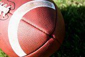 Angled shot of a football