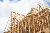 stock photo of 2x4  - Frame of a house - JPG