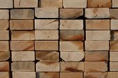 Stack of 2x4's for home building