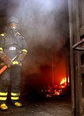 Fireman At Work