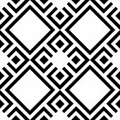 Geometric Abstract Pattern. Geometric Modern Black And White Ornament. Seamless Modern Background poster