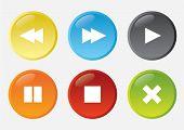 Conjunto de botões web