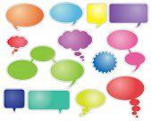 Colorido discurso burbujas y globos de diálogo