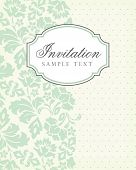 pic of ivy vine  - Vector vintage background and frame with sample text - JPG