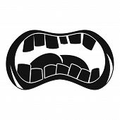 Zombie Mouth Icon. Simple Illustration Of Zombie Mouth Icon For Web poster