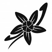 Vanilla Sticks With A Flower Icon. Simple Illustration Of Vanilla Sticks With A Flower Icon For Web poster