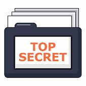 Top Secret Folder Icon. Cartoon Illustration Of Top Secret Folder Icon For Web poster