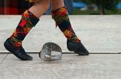 The feet of a highland Sword Dancer