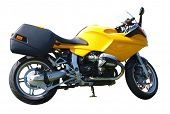 Yellow Motorbike isolated with clipping path