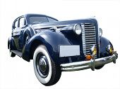 1939 Buick isolated with clipping path