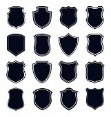 Shield Icon Set Vector Illustration. Shield Icon Vector Collection poster