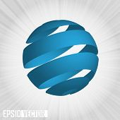 pic of world-globe  - EPS10 3D World globe vector illustration - JPG